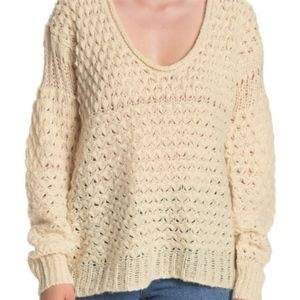 ✨NWT✨ Free People Crashing waves sweater in Cream